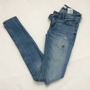 Hollister Light-washed, skinny ripped jeans